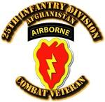 Army - 25th Infantry Div w Cbt Vet - Afghan