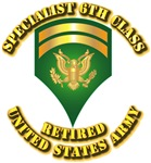 Army - Specialist 6 - Retired