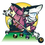Pool Shark Billiards T-Shirts and Gifts