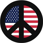 Peace Sign with American Flag