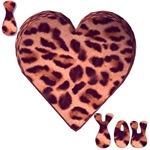 I Love You Leopard Heart