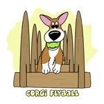 Corgi Flyball Cartoon