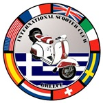 GREECE VESPA SCOOTER FLAG T-SHIRTS & GIFTS