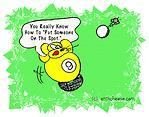 Spot Shot - funny 9 Ball Billiards cartoon