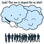Cloud Mocks Human Shapes Funny Cartoon