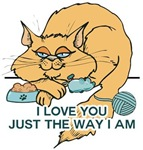 I Love You Funny Cat Graphic Saying