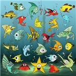Cartoon Fish Underwater