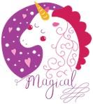 Purple and Pink Magical Unicorn
