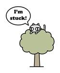 Kitty stuck in tree