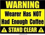 No coffee warning sign