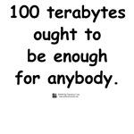 100 terabytes