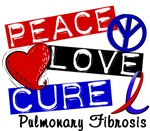 Peace Love Cure 1 Pulmonary Fibrosis Gifts