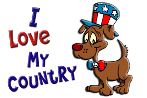 Patriotic Dog (Love My Country)