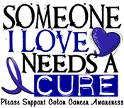 Needs A Cure COLON CANCER T-Shirts & Gifts
