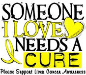 Needs A Cure LIVER CANCER T-Shirts & Gifts