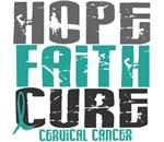 Hope Faith Cure Cervical Cancer T-Shirts & Apparel
