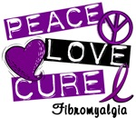 PEACE LOVE CURE Fibromyalgia T-Shirts & Gifts