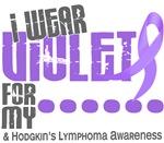 I Wear Violet 6 Hodgkin's Lymphoma T-Shirts Gifts