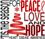 Christmas 1 Heart Disease Cards Ornaments Gifts