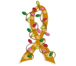 Christmas Lights Ribbon Appendix Cancer Gifts