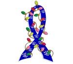 Christmas Lights Ribbon Colon Cancer Gifts