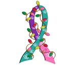 Christmas Lights Ribbon Thyroid Cancer Gifts