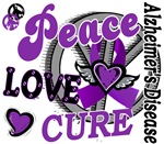 Peace Love Cure 2 Alzheimers Shirts Gifts