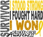 Survivor 4 Childhood Cancer Shirts and Gifts
