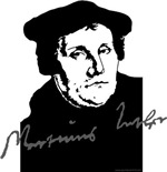 Martin Luther Portrait with Signature