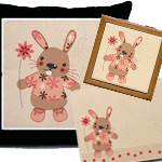 Cute rabbit & Flowers