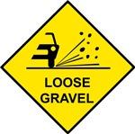 Yellow Loose Gravel Sign -