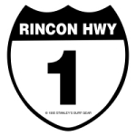 Old Rincon Highway 1 Sign