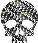 Lietuva Distressed Skull Pattern
