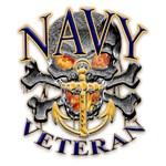 US Navy Veteran Skull