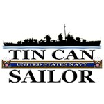 USN Tin Can Sailor Silhouette