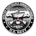 USN Aviation Maintenance Administrationman Skull
