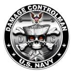 USN Damage Controlman Skull DC