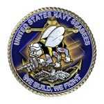 US Navy Seabees We Fight Gold