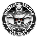 USN Submarine Service Skull