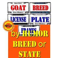 Goat License Plate Frames