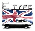 E-type Jag uk flag