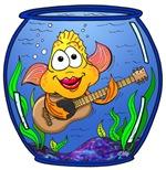 Fish Playing Guitar