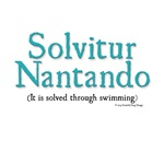 It is solved through swimming