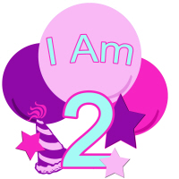 Pastel Colors I am two birthday shirt and more