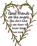 Good friends are like angels graphic tees and more