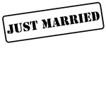 Stamp Just Married T-Shirts