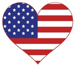 Stars and Stripes Heart T-Shirts