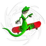 Skateboard Gecko