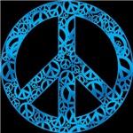Blue Peace Symbols T-shirts & Gifts