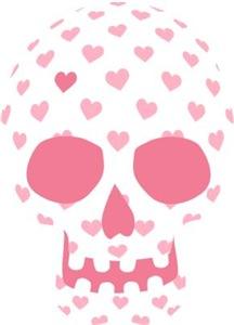 Heart Patterned Skull